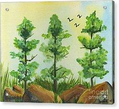 Woodland Guards Acrylic Print