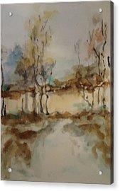 Woodland Landscape Acrylic Print by Katie Spicuzza