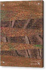 Woodland Quilt Block Acrylic Print by David K Small