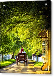 Woodland Ride - Colonial Williamsburg Acrylic Print by Mark E Tisdale