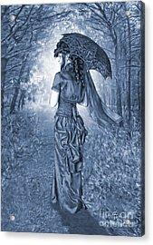 Woodland Stroll Cyanotype Acrylic Print by John Edwards