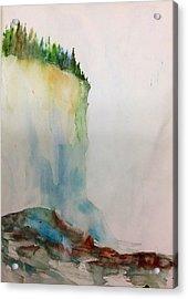 Woodland Trees On A Cliff Edge Acrylic Print