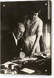 Woodrow And Edith Wilson Acrylic Print
