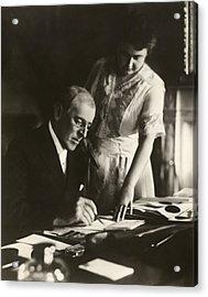 Woodrow And Edith Wilson Acrylic Print by Georgia Fowler