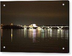 Woodrow Wilson Bridge - Washington Dc - 011340 Acrylic Print by DC Photographer