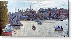 Acrylic Print featuring the photograph Woods Hole Harbor by Constantine Gregory