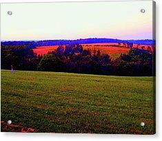 Woodstock - Farm - Yasgurs Acrylic Print by Susan Carella