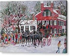 Woodstock Wassail Parade Acrylic Print by Sherri Crabtree