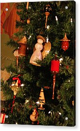 Woodworkers Of The Blue Ridge Christmas Tree Detail Acrylic Print by Suzanne Gaff