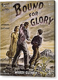 Woody Guthrie: Glory, 1943 Acrylic Print by Granger