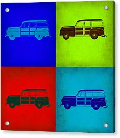 Woody Wagon Pop Art 1 Acrylic Print by Naxart Studio