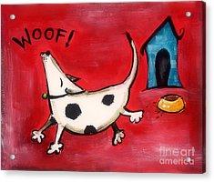 Woof Acrylic Print by Diane Smith