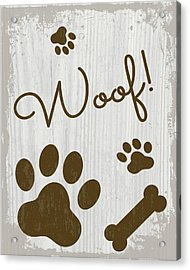 Woof! Acrylic Print