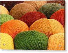 Wool Yarn Acrylic Print by Jim Hughes