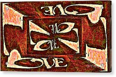 Word - Love - Crazylove Acrylic Print