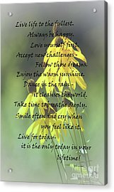 Words For My Teen Acrylic Print by Cathy  Beharriell