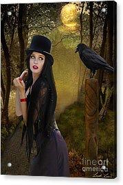 Words Of The Crow Acrylic Print by Linda Lees