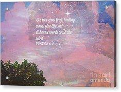 Words Of Wisdom Acrylic Print by Sherri's Of Palm Springs
