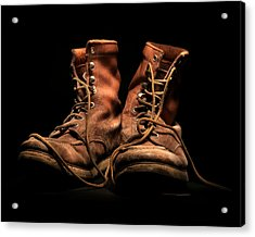 Work Boots Acrylic Print by Christopher McKenzie
