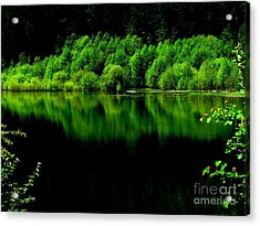 Work In Green Acrylic Print