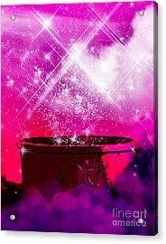 Work The Magic Acrylic Print