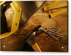Work Tools Acrylic Print by Les Cunliffe