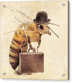 Worker Bee Acrylic Print by Eric Fan