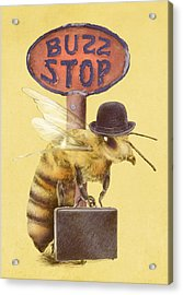 Worker Bee Yellow Option Acrylic Print by Eric Fan