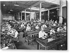 Workers Assembling Cine-kodaks Acrylic Print by Underwood Archives