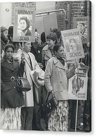 Workers At The Grunwick Laboratories Offered Council Houses Acrylic Print by Retro Images Archive