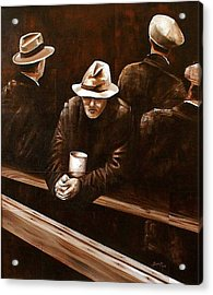 Working Class Acrylic Print by Laurend Doumba
