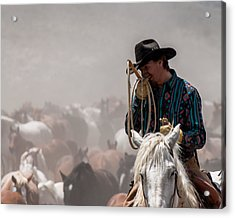 Working Cowboy Acrylic Print