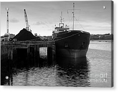 Working Harbour Acrylic Print by Frank Anthony Lynott