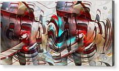 Acrylic Print featuring the digital art Working Machine In Color by rd Erickson