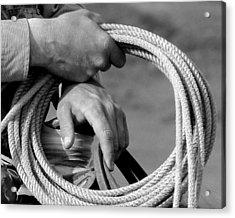 Working Man's Hands Acrylic Print by Carla Froshaug