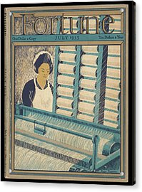Working On A Cotton Loom          Date Acrylic Print by Mary Evans Picture Library