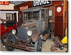 Working On The Old Ford Model T 5d25570 Acrylic Print by Wingsdomain Art and Photography