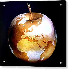 World Apple Acrylic Print by The Creative Minds Art and Photography