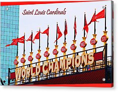 World Champions Flags Acrylic Print