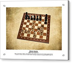 World Chess Champions - Wilhelm Steinitz - 1 Acrylic Print by Alexander Senin