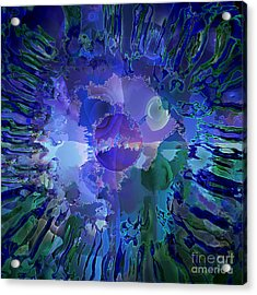 World In A Cell Acrylic Print by Ursula Freer