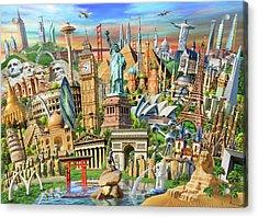 World Landmarks Collection Acrylic Print