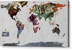 Degas 5  World Map Acrylic Print by John Clark