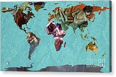 World Map Degas 2 Acrylic Print by John Clark
