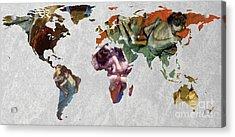 World Map Degas 3 Acrylic Print by John Clark
