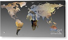 World Map  Joseph Turner 3 Acrylic Print