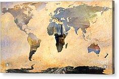 World Map   Joseph Turner 4 Acrylic Print