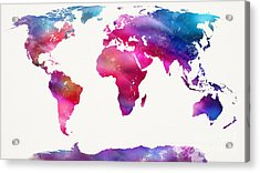 World Map Light  Acrylic Print by Mike Maher