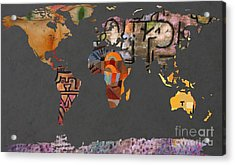 Paul Klee 1  World Map Acrylic Print