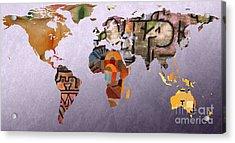 World Map  Paul Klee 5 Acrylic Print